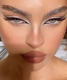 Edgy Makeup, Baddie Makeup, Makeup Eye Looks, Creative Makeup Looks, Eye Makeup Art, Cute Makeup, Pretty Makeup, Skin Makeup, Makeup Inspo