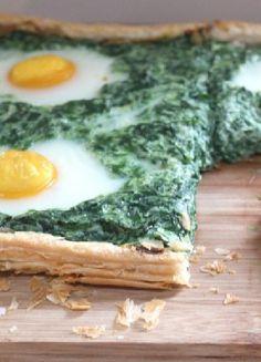 Vegetarian Low FODMAP Recipe  and Gluten Free Recipe - Free-form Florentine pie