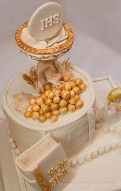 pastel para primera comunión