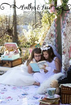 Girls vintage tepee session