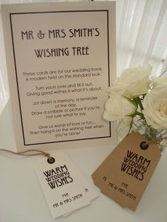 Wish Tree Sign/Poem - 2 styles available: