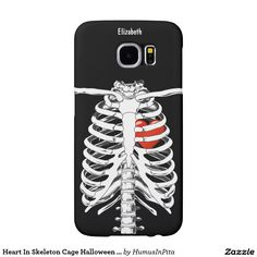 Heart In Skeleton Cage Halloween Phone Case Samsung Galaxy S6 Cases