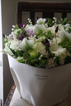 lily of the valley ,eustoma, orchid ,clematis, and calla