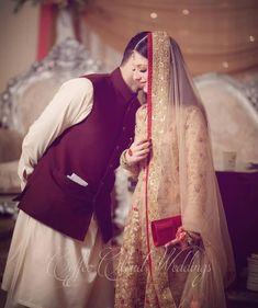 #hayat zulfiqar Pakistani Formal Dresses, Pakistani Bridal Dresses, Muslim Couple Photography, Wedding Photography, Velvet Dress Designs, Cute Muslim Couples, Desi Wedding, Wedding Poses, Wedding Couples