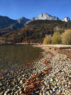 Herbst am Grundlsee Bad Mitterndorf, Austria, Earth, Mountains, World, Nature, Moon, Travel, Beautiful