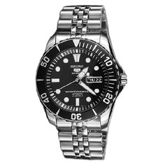 Seiko 5 Sports Automatic Mens Diver Watch SNZF17K1 SNZF17 Jubilee $165