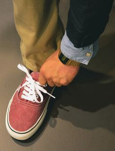love these classic vans  Watch & chambray(s)