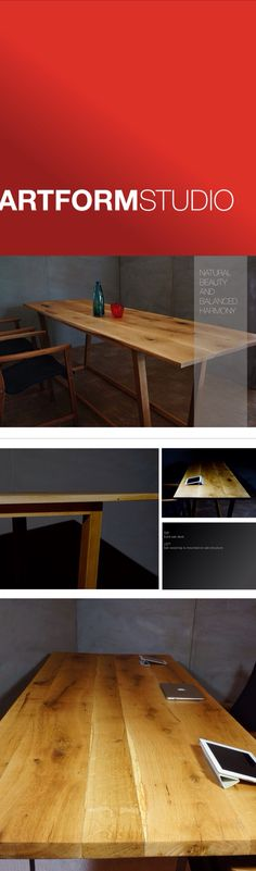 Contemporary solid oak conference desks
