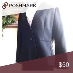 Tahari jacket classic pinstriped. This classic pinstriped jacket with special lapel detail will have you taken seriously. Fit is slimming and fabric is fine.  Worn once. Petite businesswomen this one's for you. Add a pencil skirt and modern neckwear to show your individuality. Tahari Woman Jackets & Coats Blazers