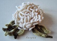 Flor de Crochet con Cadenetas Tutorial - Patrones Crochet
