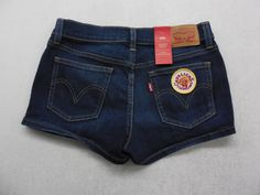 Levi's Womens Shortie Shorts Medium Wash Denim Cleveland Cavaliers Basketball Jean Shorts Size 27 by KCteedesigns on Etsy