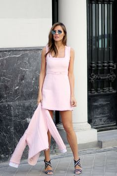 Pink day looks – Lady Addict. Spring/ Summer Going Out/ Lunch/ Celebration Outfit 2018 Tweed Outfit, Tweed Dress, Tweed Blazer, Pink Fashion, Fashion Outfits, Womens Fashion, Petite Fashion, Curvy Fashion, Fall Fashion