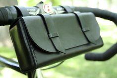 Leather Bike Tool Bag Black by JepsenLeatherGoods on Etsy