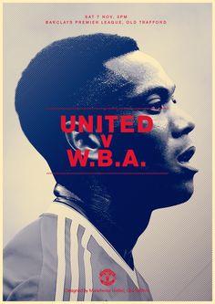 Match poster. Manchester United v West Bromwich Albion, 7 November 2015. Designed by @manutd