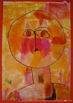 Portret in de stijl van Paul Klee