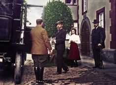 Tsar Nicholas II Romanov & his daughter Tatiana Nikolaevna in Darmstadt, Germany