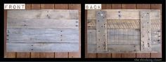 Wood Pallet Sign Tutorial — Clear instructions for putting it together. Not painted…used vinyl letters.