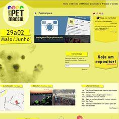 Mais do nosso portifólio: Web site Expo Pet Maceió www.expopetmaceio.com.br #portifolio #we #site #trabalhos #agencia #case #marcas