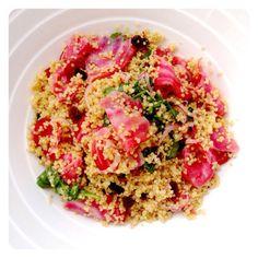 Citrus Quinoa Beet Salad. Gluten Free, Dairy Free & Vegan. Recipe on www.thelittlegreenspoon.com