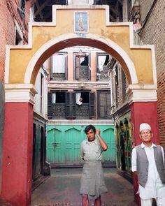 Patan Nepal 1997  #threepeople #oldcity #worldheritage #Nepal #patan #film #craigfergusonimages