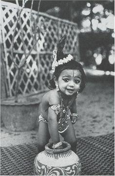 Baby Krishna up to some mischief Baby Krishna, Krishna Art, Lord Krishna, Radhe Krishna, Lord Shiva, Precious Children, Beautiful Children, Beautiful People, Indian Spirituality