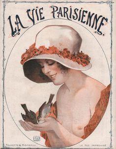 Operarex - LA VIE PARISIENNE - Cover Litho DECO ART by G. LEONNEC 1919 ORIGINAL