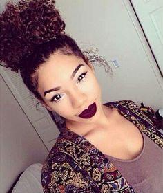 Curly Neat Top Bun