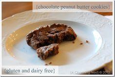 Chocolate Peanut Butter Cookies - Gluten & Dairy Free