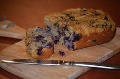 Blueberry paleo bread. Add chocolate chips if you're feeling naughty!