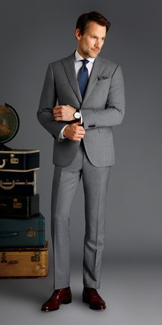 Light Gray Sharkskin Custom Suit is part of Sharkskin suit - Get this light gray sharkskin suit made with Vitale Barberis Canonico, Super wool made to your exact measurements and customized just the way you want it Mens Fashion Suits, Mens Suits, Grey Suit Combinations, Terno Slim, Light Grey Suits, Gray Suits, Sharkskin Suit, Mode Lolita, Formal Men Outfit