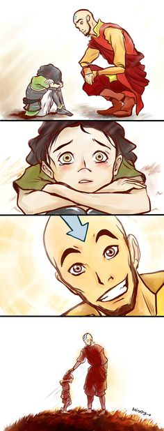 Aang and young Lin