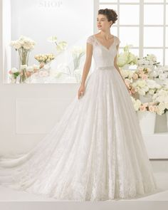 CALIFA vestido de novia Aire Barcelona 2017