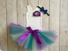 Mermaid Dress Baby Girls Mermaid Party Tutu par StrawberrieRose