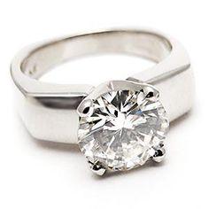 unique 3 carat diamond cocktail rings | Details about 2 Carat IVS1 Diamond Solitaire Engagement Ring Platinum