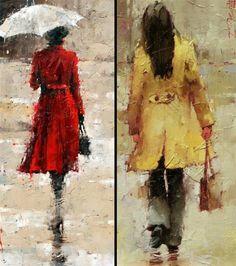 Under The Rain by Andre Kohn | Draw As A Maniac