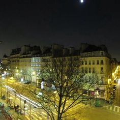 The Marais district by night