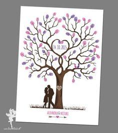 Ihr wünscht euch ein etwas anderes Gästebuch für euer Fest? Bei den Weddingtrees gestalten erst eure Gäste mit ihren Fingerabdrücken nach und nach ein fertiges, individuelles Bild. Sei es ein...