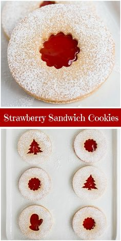 Strawberry Sandwich Cookies recipe from RecipeGirl.com #strawberry #sandwich #cookies #christmas #holiday #cookie #recipe #RecipeGirl via @recipegirl