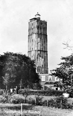 ©Huib van Leeuwen De Brandaris jaren '60 Wind Mills, Water Tower, Lighthouses, All Over The World, Black And White Photography, Netherlands, Holland, Dutch, Scenery