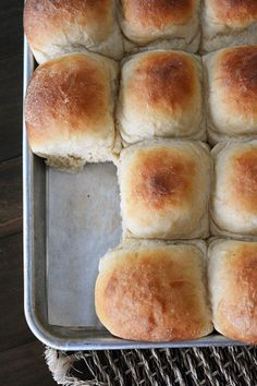 "Buttermilk Potato Rolls (Mels Kitchen Cafe: ""Fluffiest most delicious rolls I've ever met.)"
