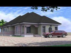 4 Bedroom Bungalow House Design In Nigeria - YouTube 4 Bedroom House Designs, 4 Bedroom House Plans, Bungalow House Design, Small Room Bedroom, Small Rooms, Bedroom Ideas, Modern Small House Design, Simple House Plans, Big Houses