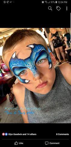 Dinosaur Face Painting, Monster Face Painting, Dragon Face Painting, Mask Face Paint, Face Painting For Boys, Face Painting Designs, Body Painting, St Jean Baptiste, Dragons