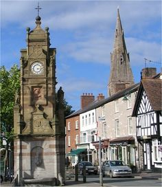 St. Peter's Square in the town of Ruthin, North Wales