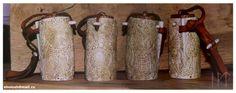 A mammen style carved viking salt box.  Bone, wood, leather.   Hand carving  Sholosh.deviantart.com