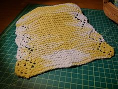 """Dishcloth done in a pattern called """"Rosebuds"""" with Lily Sugar and Cream """"Daisy"""""""