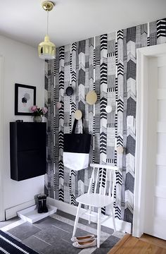 @kiitosmarimekko: A Marimekko Entry - The Reveal. Available at http://kiitosmarimekko.com/products/ruutukaava-wallpaper-black-white