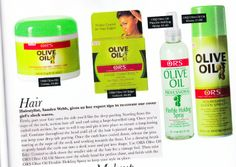 Our lovely Olive Oil products featured in Black Hair Magazine