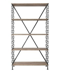 Love this Black Chain Link Bookcase on #zulily! #zulilyfinds