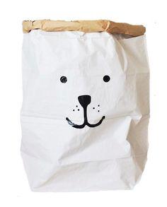 Bear paper bag storage