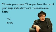 fall out boy Valentines Day Cards Tumblr, Hate Valentines Day, Valentine Love Cards, Funny Valentine, Emo Band Memes, Emo Bands, Fall Out Boy Tumblr, Soul Punk, Music Memes